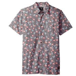 Rip Curl men's s/s flamingo shirt, Large